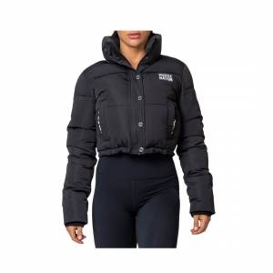 Muscle Nation Sideline Cropped Puffer Jacket